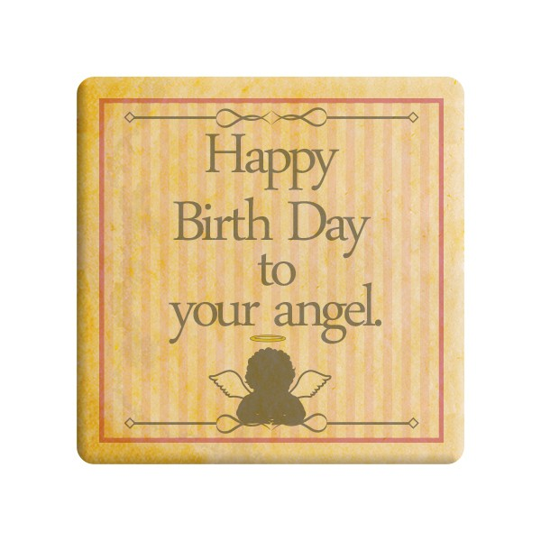 【Happy Birth Day to your angel(ピンク)】誕生日をお祝いするメッセージクッキー《誕生日・プチギフ