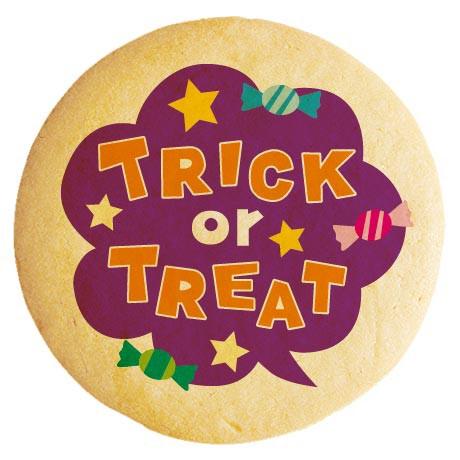 ハロウィン お菓子 メッセージクッキー TRICK or TREAT キャンディ吹き出し イラスト 個包装