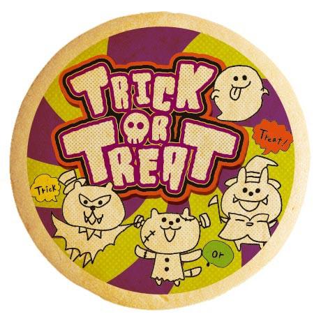 ハロウィン お菓子 メッセージクッキー TRICK or TREAT アニマルモンスター イラスト 個包装