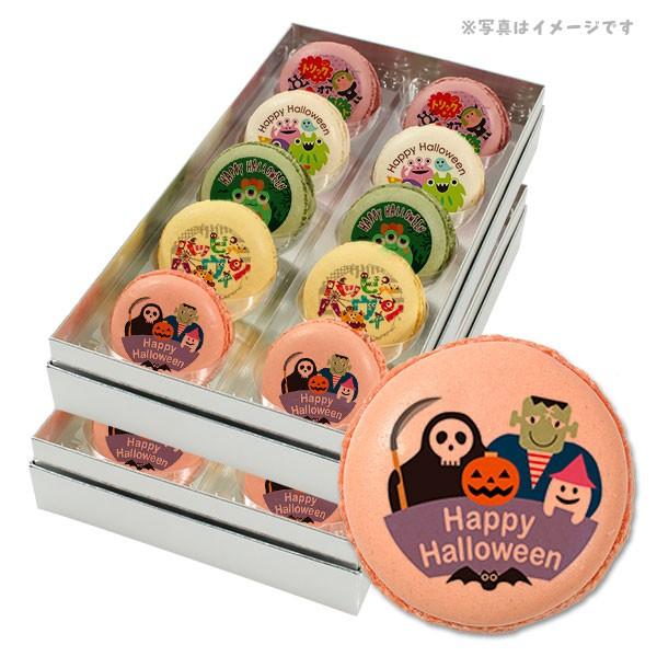 【送料無料】ハロウィン お菓子 メッセージマカロン モンスターたちが大騒ぎ パンプキンナイト 20個セット スイーツ ギフト