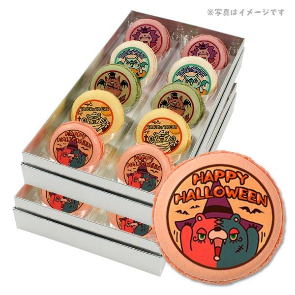 【送料無料】ハロウィン お菓子 メッセージマカロン コミックモンスターたちのハロウィンパーティ 20個セット スイーツ ギフト