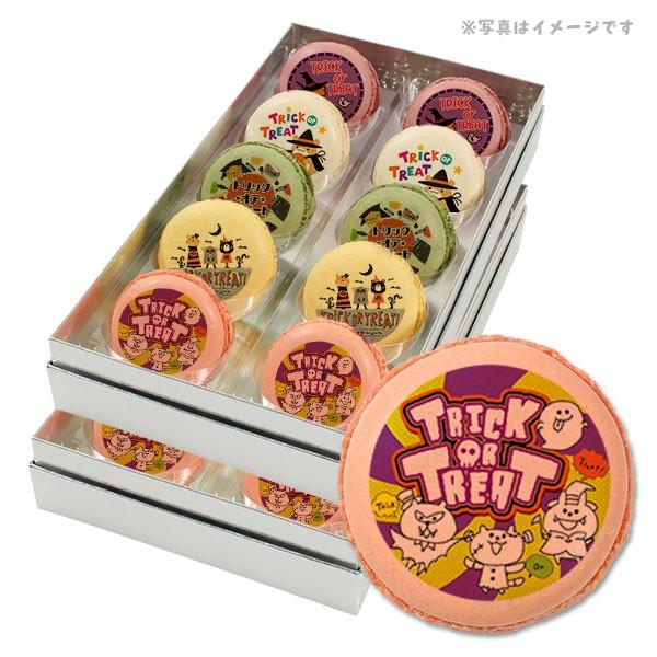 【送料無料】ハロウィン お菓子 メッセージマカロン 動物たちの楽しいハッピーハロウィン 20個セット スイーツ ギフト