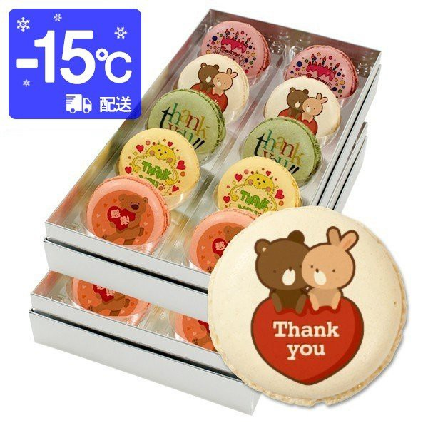 送料無料 ありがとう お菓子 メッセージマカロン 20個セットお礼 プチギフト