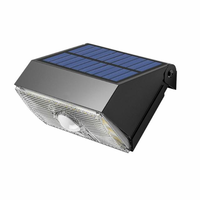 屋外用 壁掛け LED SWL-11 Sresky LED ソーラー 門柱灯 センサー式 センサーライト ガーデンライト 1000LM 昼白色 野外 屋外 おしゃれ