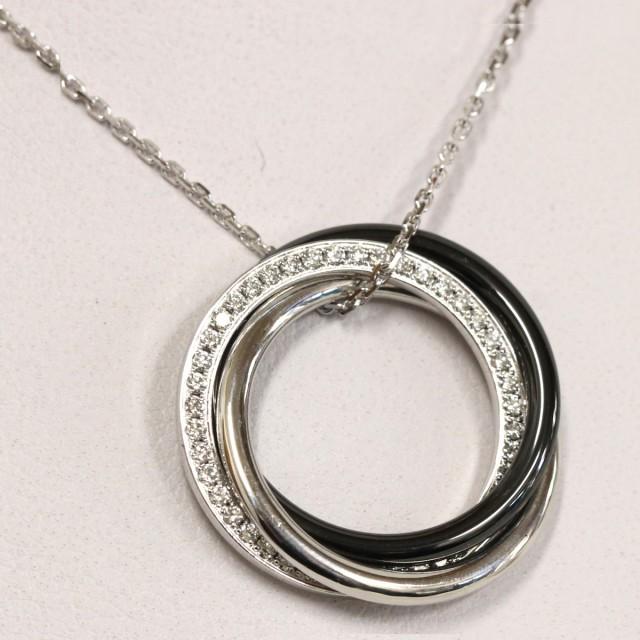162b19101f51 カルティエ トリニティ ダイヤモンドネックレス(B3045500) カルティエのネックレス、トリニティ ダイヤモンドネックレス (B3045500)の中古品です。