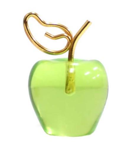 フルーツカードスタンド リンゴグリーン カードスタンド メモクリップ メモホルダー メモ立て カード立て メモスタンド