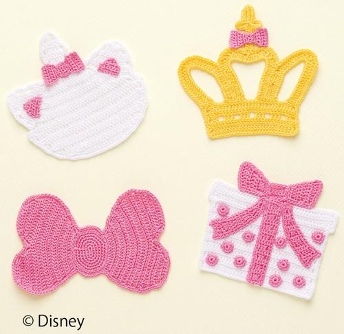 ディズニー おしゃれキャットマリー コースター 手作りキット オリムパス エミーグランデ 手編み 編物 レース糸 手芸用品