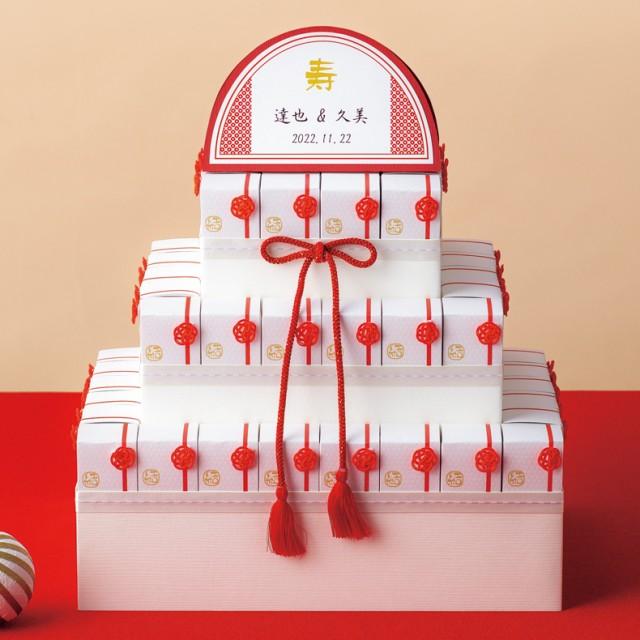 ウェルカムオブジェ 名入れ ご縁を結ぶ 44個セット きなこ飴 和柄 キャンディー お菓子 プレゼント