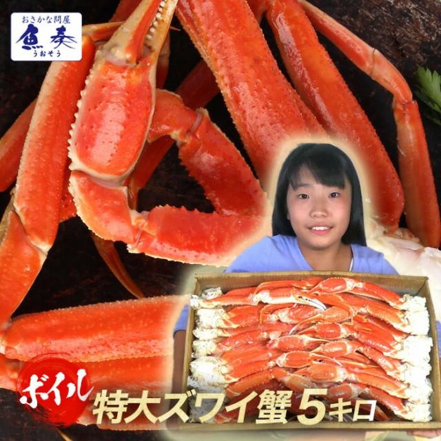 かに カニ 蟹 ずわい蟹 限定販売 最安値 ボイルずわいがに【特大】 5kg かに カニ 蟹 脚 ずわいがに セクション かに ボイル [送料無料
