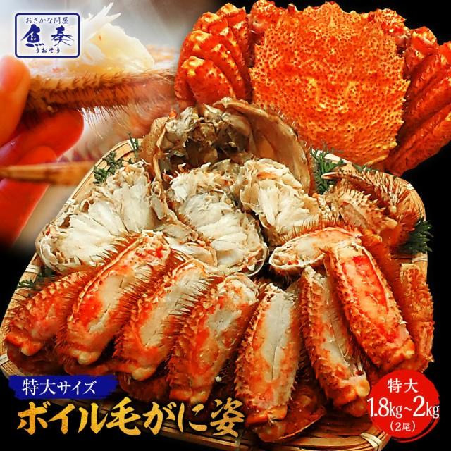【年内在庫限り】かに カニ 蟹 毛蟹 限定販売 最安値ボイル毛ガニ姿【特大】約1kg×2尾 かに カニ 蟹 毛がに 毛がに カニみそ かに 姿