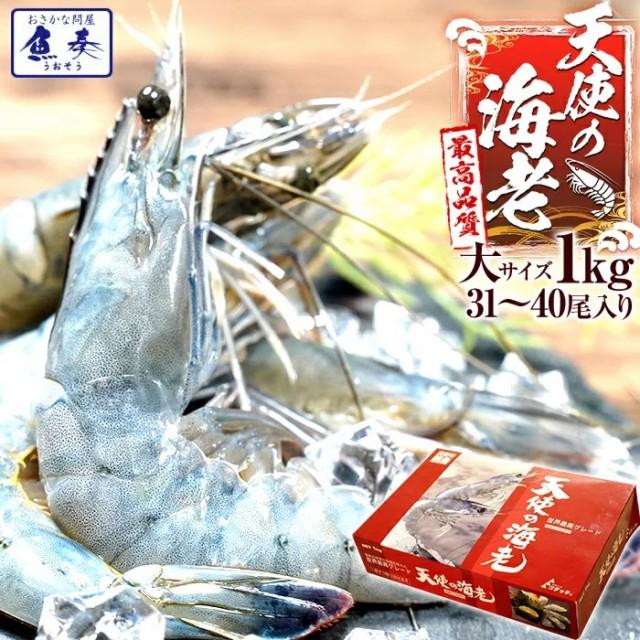 敬老 ギフト 天使の海老 大サイズ1kg 最安値挑戦中 海鮮 天使の海老 有頭 食べごろサイズ 1kg お取り寄せ お試し世界最高品質 刺身
