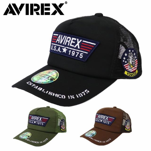 アビレックス メッシュキャップ メンズ 帽子 AVIREX アヴィレックス AX TP PATCH MESH CAP ミリタリー アメリカ USA TOMCAT