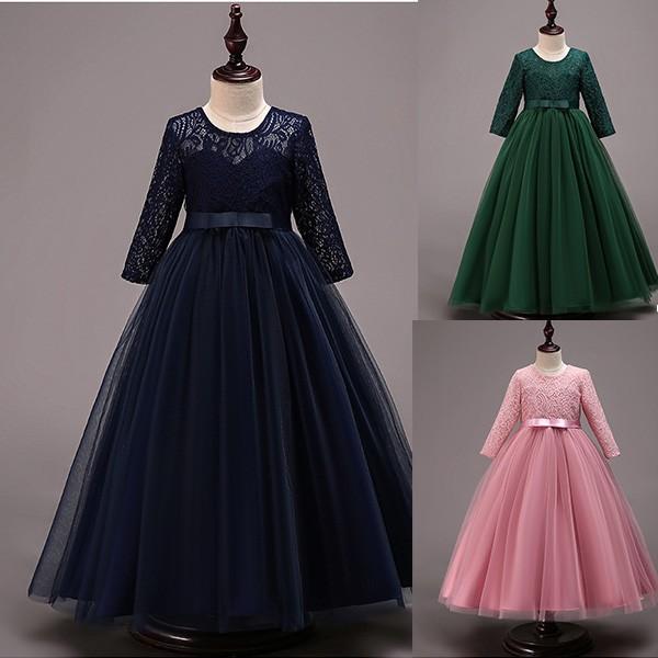 8f74424eec3f0 子供ドレス ピアノ発表会 ロング 子どもドレス フォーマル 七五三 ジュニアドレス 紺 紫 シャンパン 白