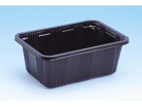 信和 カラーイチゴケース イチゴ500 黒 172×123×68mm いちご500g用 1ケース1600枚入