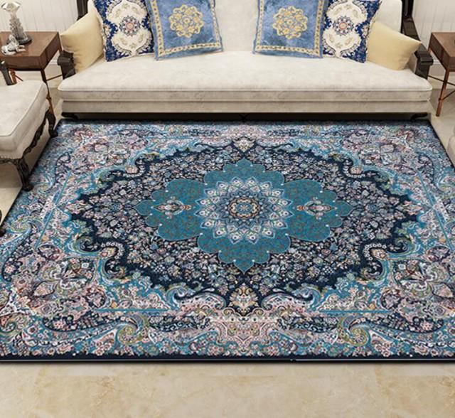 ペルシャ絨毯 160cmx230cm 高級ウィルトン織りエレガンス絨毯 大きいサイズ 室内 ラグマット カーペット 滑り止め付