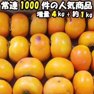 柿 訳あり 送料無料 富有柿 甘柿の王様 奈良 西吉野 柳澤果樹園 富有柿 4kg+増量約1kg 計5kg 約13〜23玉 家庭用