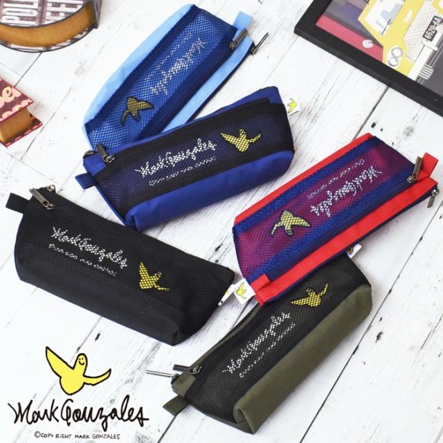 マークゴンザレス Mark Gonzales メッシュ ボート型 ペンケース ポーチ 筆箱 ふでばこ 小物入れ スリム おしゃれ 人気 かわいい ブランド