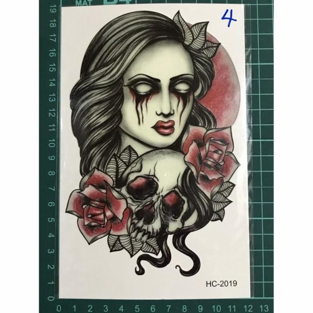タトゥーシール フェイクタトゥー ノースリーブ バラ スカル ファッションシール 刺青 入れ墨 文身 tattoo 送料無料