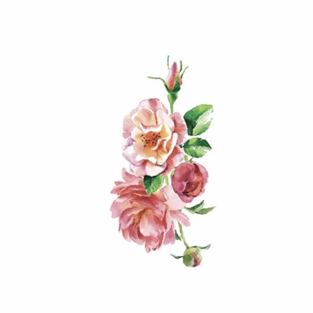 タトゥーシール フェイクタトゥー ノースリーブ 花 水彩柄 ファッションシール 刺青 入れ墨 文身 tattoo 送料無料