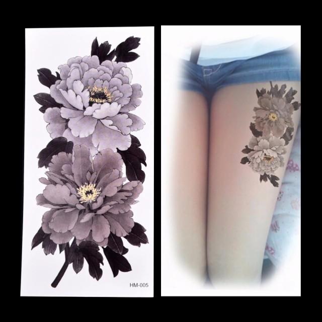 タトゥーシール フェイクタトゥー ノースリーブ 花 牡丹 ファッションシール 刺青 入れ墨 文身 tattoo 送料無料