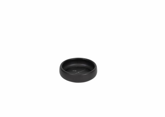 ★シンプル・インテリア性★ MOG BONE ハンドメイドセラミックボウル 黒 13.5×3.7(cm) 子犬 子猫 パピー対応