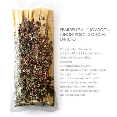 パスタ イタリア産ポルチー二茸のパッパルデッレ トリュフオイル付【200g】原材料は全て無添加素材のパスタセット!【常温/全温度帯可