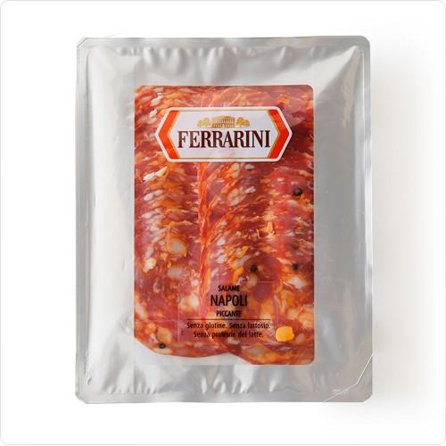 サラミ イタリア産サラミ ナポリピカンテ(スライス)【150g】【冷蔵】【D+2】【ソフトサラミソーセージ】【お中元 ギフト】