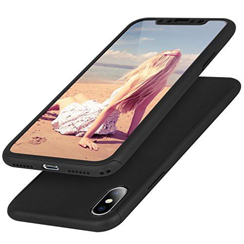 0f5146148b Anroog iPhone X ケース 全面保護 防爆ソフトフィルム 360度フルカバー 衝撃防止 アイフォン