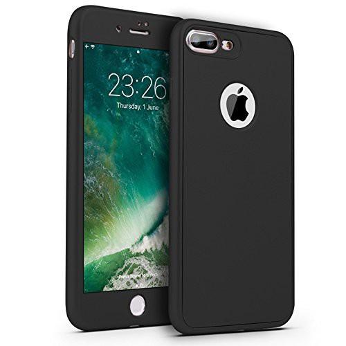 2e9ebfbc48 iPhone7plus/ iPhone8 plus ケース 衝撃防止 全面保護 強化ガラスフィルム 360度フルカバー
