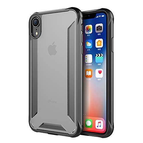 98c2365961 iPhone Xr 用スマホ保護ケース 軍事レベル耐衝撃 タフ 防塵 アンチショック スクラップ ブラック