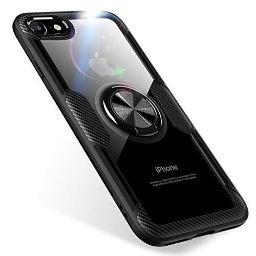 42bd1ff4a4 iPhone7 ケース/iPhone8 ケース リング付き スマホケース 透明 クリア スリム 薄型 4.7インチ専用 スマホケース