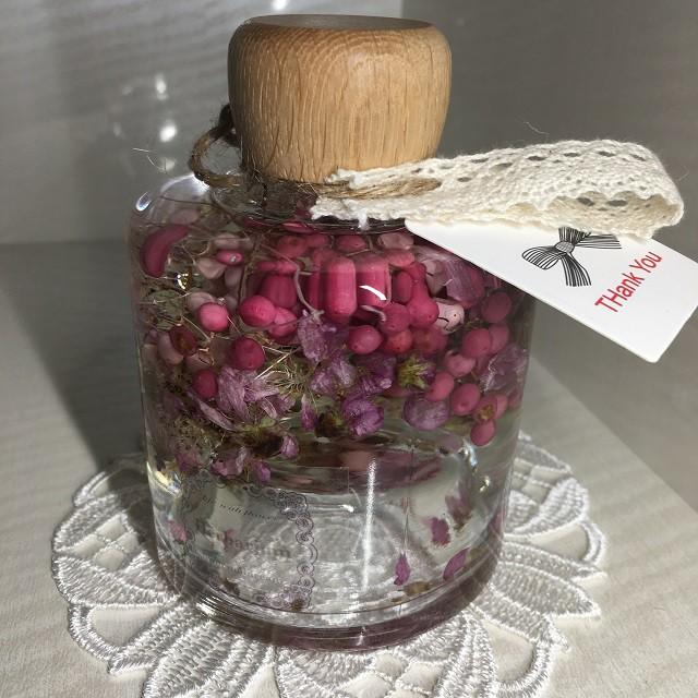 【送料無料】花ギフト フラワーインテリア ハーバリウム 母の日 誕生日祝い 卒業祝い 入学祝い 桃の花 ピンク系