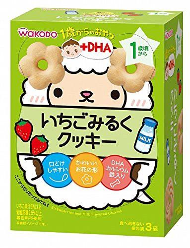 ★人気★和光堂 1歳からのおやつ+DHA いちごみるくクッキー×6個