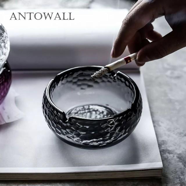 ANTOWALL 北欧スタイルクリスタルハンマーテクスチャガラス灰皿オフィスリビングルーム装飾品ホテルホーム灰皿