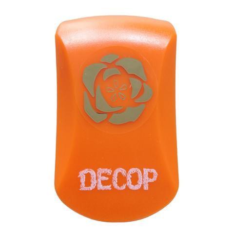 DECOP クラフトパンチ エンボス パンチ ローズ 花 バラ 花岡 ペーパークラフト スクラップブッキング