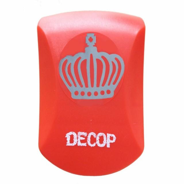 クラフトパンチ DECOP クラウン 王冠 エンボス パンチ 花岡 スクラップブッキング ペーパークラフト スクラップブック カード