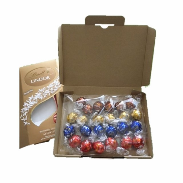 送料無料 段ボール小箱に詰め替えて発送 リンツ リンドール チョコレート 24個 コストコ お試し ハローウィン バレンタイン お