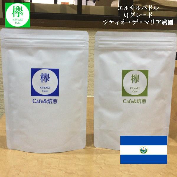 夏季限定価格 エルサルバドル Qグレード シティオ・デ・マリア農園 コーヒー豆 200g 約20杯分 欅 Cafe 焙煎