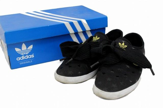 56a3de8316a3c adidas/アディダス オリジナルスニーカー 靴 星 ブラック/黒 23cm 替え紐 保存箱付き