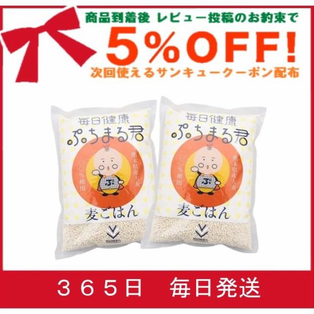 食物繊維 大麦 ぷちまる 2袋セット 西田精麦 毎日健康 ぷちまる君 1kg×2袋 熊本県産 大麦100%使用