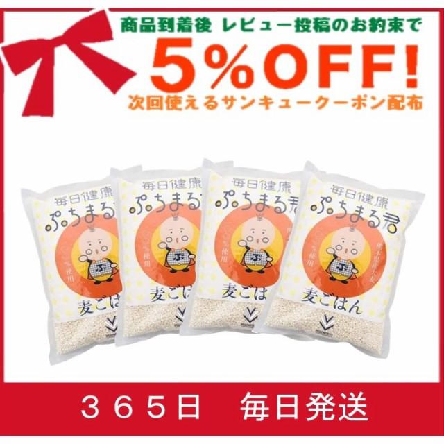 食物繊維 大麦 ぷちまる【4袋セット】西田精麦 毎日健康 ぷちまる君 ( 1kg )×4袋 熊本県産 大麦100%使用