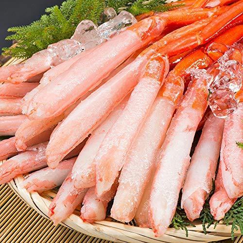 刺身用 北海道産 紅ズワイガニ 3L〜4L 南蛮付 極太ポーション 1kg 36〜40本(生食 むき身 年末年始 グルメ)
