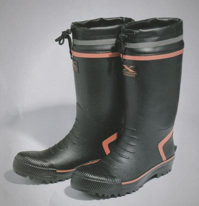 送料無料!安全靴 ラバー長靴ブーツ メンズレディースステンレス鋼鈑踏み抜き防止抵抗板入りフード付き、鋼製先芯いりゴミが入りにくく