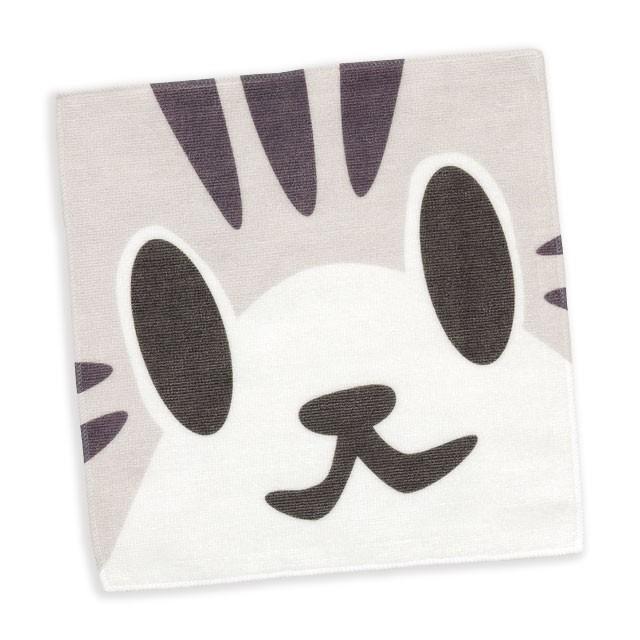 タオル 猫 ねこがお:サバトラ ネコ ねこ 猫柄 雑貨 - ミニタオル - メール便 - SCOPY スコーピー