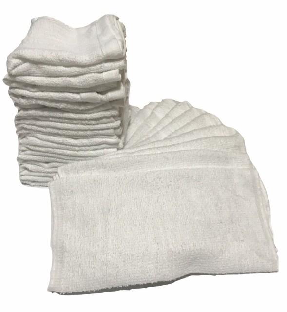 訳あり フェイスタオル 白タオル 業務用 大量セット 使い捨て 30x62 40g ホワイト業務用 (20枚)