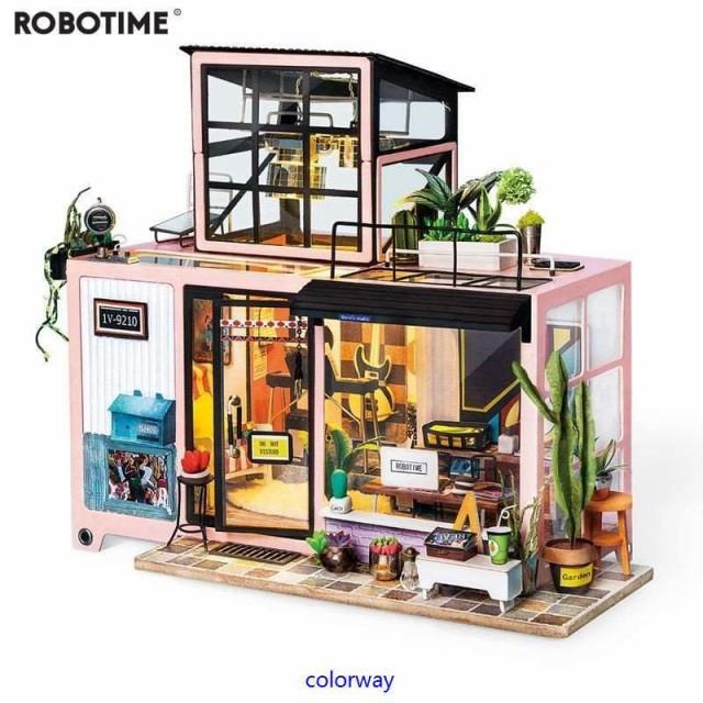 3Dハウスキット スタジオ ボックスパズル ドールハウス 3Dパズル DIY ミニチュア 家具つき おもちゃ 子供プレゼント