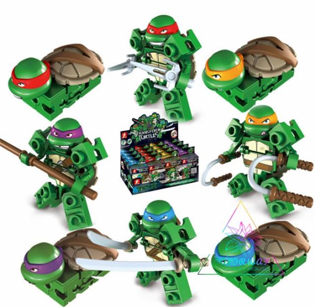 レゴ 互換品 レゴ LEGO ブロック ミュータントタートルズ ミニフィグ ミニフィギュア プレゼント 4体セット Teenage Mutant Ninja Turtle