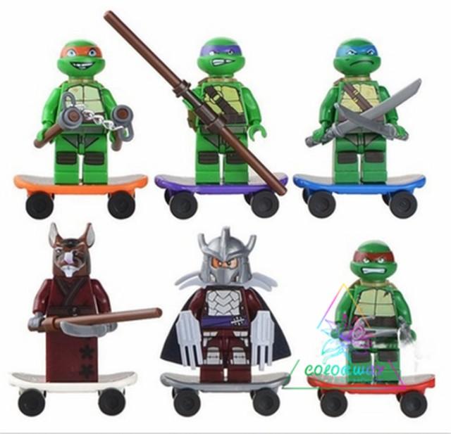 レゴ 互換品 レゴ LEGO ブロック ミュータントタートルズ ミニフィグ ミニフィギュア プレゼント 6体セット Teenage Mutant Ninja Turtle