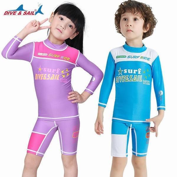 ウェットスーツ 水着 キッズラッシュガード子供用 ガール UVカットウエア紫外線カット日よけ海水浴プール水着