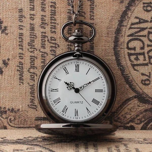 YA-0000132 懐中時計 メンズ レディース チェーン 蓋付き 時計 ローマ数字 ナースウォッチ フック